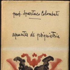 Libros de segunda mano: APUNTES DE PSIQUIATRA - SPARTACO COLOMBATI - 1961 - COLECCIÓN ZAMBON. Lote 40788290