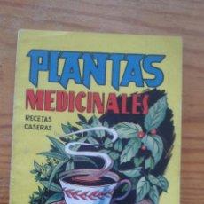 Libros de segunda mano: PLANTAS MEDICINALES - RECETAS CASERAS - MANUALES CISNE - POR MEDICUS. Lote 41207713