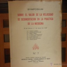 Libros de segunda mano: SYMPOSIUM SOBRE EL VALOR DE LA VELOCIDAD DE SEDIMENTACIÓN EN LA PRÁCTICA DE LA MEDICINA. Lote 41324621