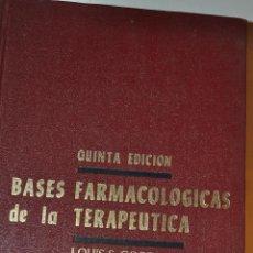 Libros de segunda mano: BASES FARMACOLÓGICAS DE LA TERAPÉUTICA. LOUIS S. GOODMAN, ALFRED GILMAN (DIR.) RM64814. Lote 41670942