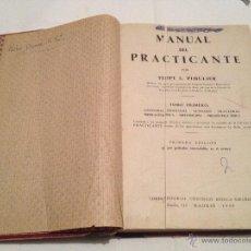 Libros de segunda mano: LIBRO MANUAL DEL PRACTICANTE. AÑO 1949. Lote 41679332