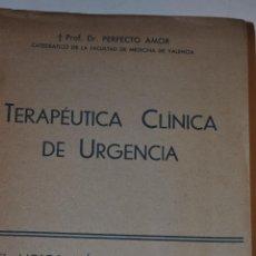 Libros de segunda mano: TERAPÉUTICA CLÍNICA DE URGENCIA. SÍNTOMAS Y TRATAMIENTO DE LAS ENFERMEDADES INTERNAS. RM65138. Lote 42345965