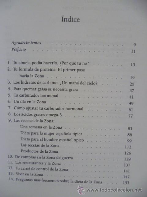 Libros de segunda mano: LA REVOLUCIONARIA DIETA DE LA ZONA - DR. BARRY SEARS - Foto 4 - 42547784