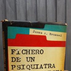 Libros de segunda mano: FICHERO DE UN PSIQUIATRA CRIMINALISTA. JAMES A. BRUSSEL. Lote 42613701