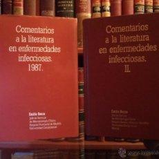 Libros de segunda mano: COMENTARIOS A LA LITERATURA EN ENFERMEDADES INFECCIOSAS I-II, BOUZA, EMILIO. 1987-88. Lote 42763041