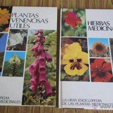 Livres d'occasion: 2 LIBROS LA GRAN ENCICLOPEDIA DE LAS PLANTAS MEDICINALES PLANTAS VENENOSAS ÚTILES HIERBAS MEDICINA. Lote 43850048