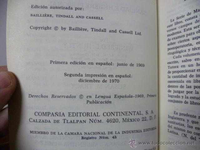 Libros de segunda mano: MANUAL DE ENFERMERÍA - Sanidad e higiene personal - 2ª Ed. 1979 - Foto 2 - 44209843