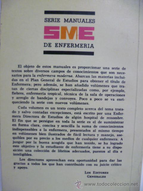 Libros de segunda mano: MANUAL DE ENFERMERÍA - Sanidad e higiene personal - 2ª Ed. 1979 - Foto 4 - 44209843