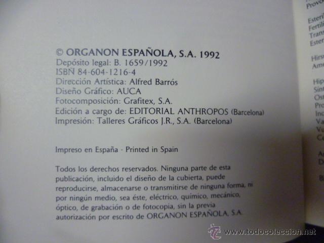Libros de segunda mano: MANUAL ORGANON DE TERAPEUTICA GINECOLOGICA - Foto 2 - 44675140