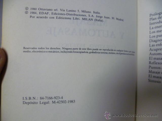 Libros de segunda mano: Masaje y automasaje de oriente y occidente - Gaya Garaudy - Foto 3 - 44827522