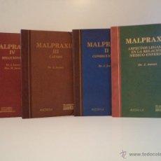 Libros de segunda mano: MALPRAXIS. VOLÚMENES I-II-III-IV: OBRA COMPLETA. J. JORNET Y M. JORNET. ÁNCORA AÑOS 90. Lote 44873720