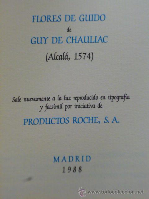 Libros de segunda mano: Flores de Guido de Guy de Chauliac (Alcalá 1574) - Foto 3 - 46199133