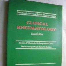 Libros de segunda mano: CLINICAL RHEUMATOLOGY (FUNDAMENTAL AND CLINICAL ASPECTS OF INTERNAL MEDICINE) TALBOTT JOHN HAROLD. . Lote 46656693