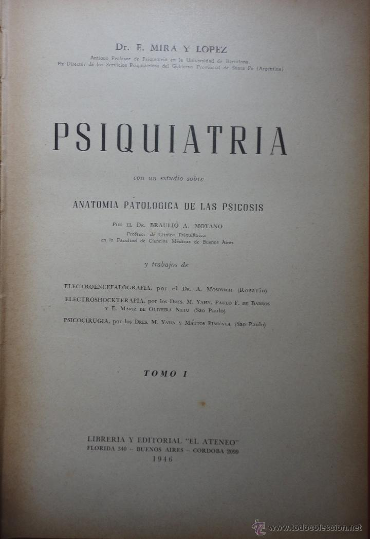 psiquiatría. anatomía patológica de la psicosis - Comprar Libros de ...