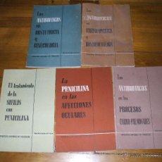 Libros de segunda mano: LOTE DE 5 MONOGRAFIAS DE FARMACIA DE LA COMPAÑIA ESPAÑOLA DE PENICILINA FINAL DE LOS AÑOS 40, NUEVOS. Lote 47040836