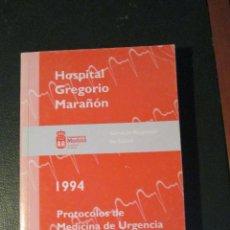 Libros de segunda mano: PROTOCOLOS DE MEDICINA DE URGENCIAS . Lote 47077763