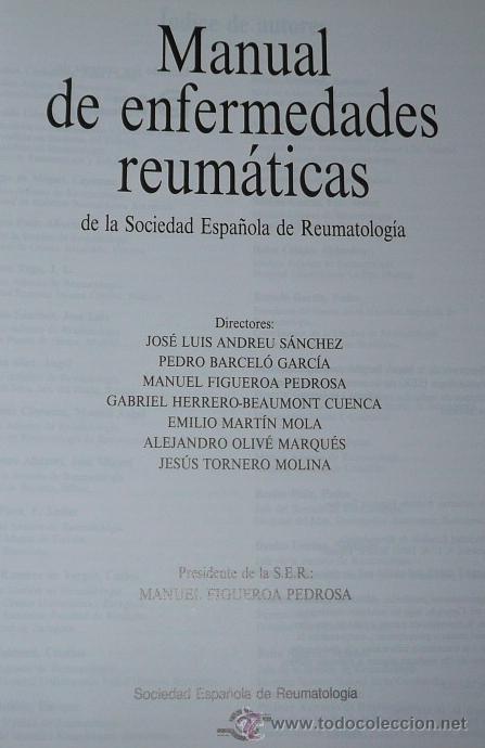 Libros de segunda mano: Manual de Enfermedades Reumáticas - Sociedad Española de Reumatología (1996) - Foto 2 - 46707353