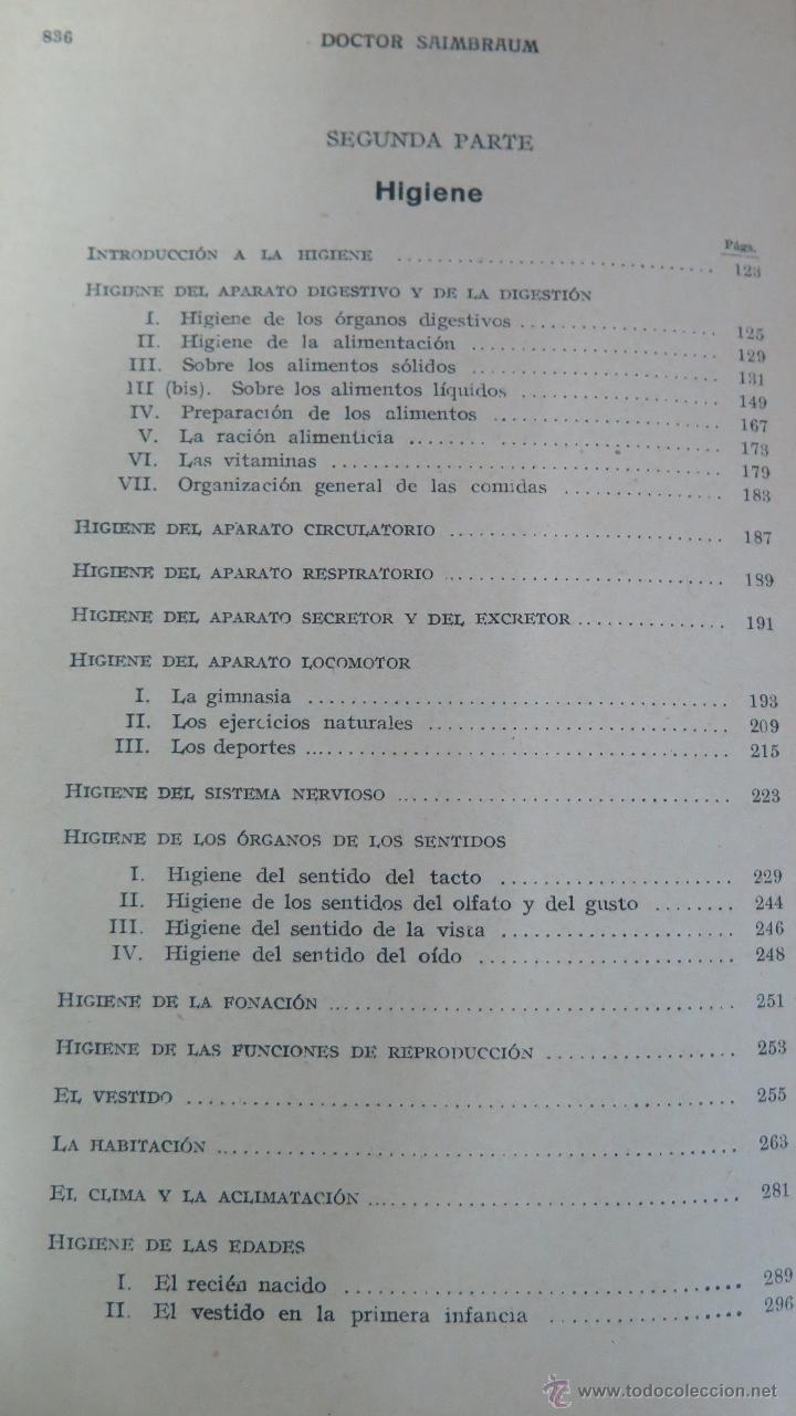 Libros de segunda mano: TRATADO POPULAR DE MEDICINA. DOCTOR SAIMBRAUM. ILUSTRADO - Foto 5 - 47142249