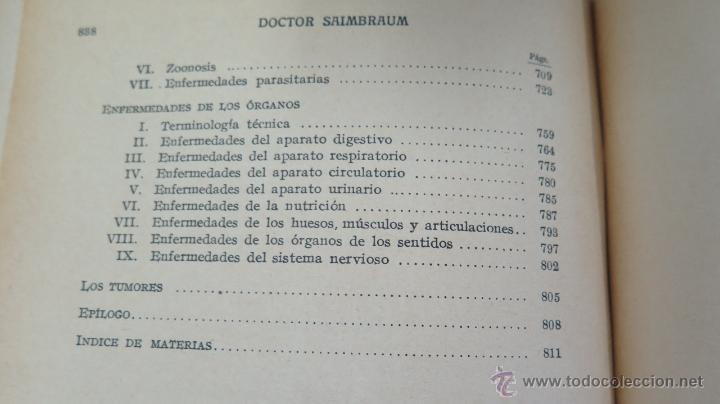 Libros de segunda mano: TRATADO POPULAR DE MEDICINA. DOCTOR SAIMBRAUM. ILUSTRADO - Foto 7 - 47142249