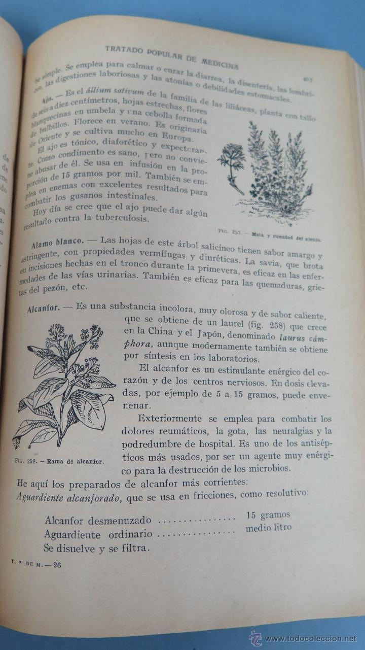Libros de segunda mano: TRATADO POPULAR DE MEDICINA. DOCTOR SAIMBRAUM. ILUSTRADO - Foto 9 - 47142249