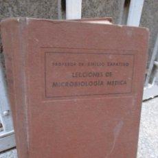 Libros de segunda mano: LECCIONES DE MICROBIOLOGIA MEDICA - EMILIO ZAPATERO - SANTAREN VALLADOLID 1940 LIQUIDACION + INFO. Lote 47509079