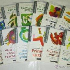 Libros de segunda mano: COLECCION SALUD Y CALIDAD DE VIDA - CIRCULO DE LECTORES - 1ª EDICION 1996 LOTE 12 LIBROS. Lote 47566423
