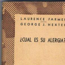 Libros de segunda mano: CUAL ES SU ALERGIA ? COLECCIÓN AUSTRAL. Lote 48577168