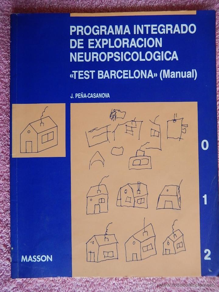 programa integrado de exploraci n neuropsicol g comprar libros de rh todocoleccion net manual test de barcelona pdf Manual Tester