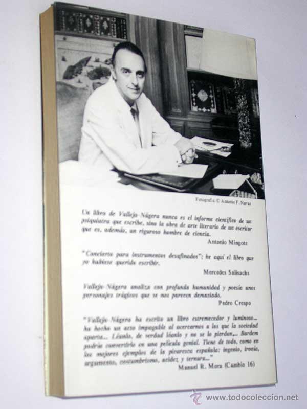 Libros de segunda mano: CONCIERTO PARA INSTRUMENTOS DESAFINADOS. Juan Antonio Vallejo Nájera. Argos Vergara, 1980. LOCOS. - Foto 3 - 49323728