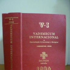 Libros de segunda mano: VADEMECUM INTERNACIONAL AÑO 1986. Lote 49368481