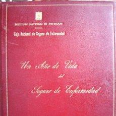 Libros de segunda mano: INFORME PRIMER AÑO SEGURIDAD SOCIAL PARA GIRON DE VELASCO 1945.ENCUADERNACION EN CHAGRIN CON NERVIOS. Lote 49484248