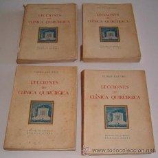 Libros de segunda mano: PEDRO CHUTRO. LECCIONES DE CLÍNICA QUIRÚRGICA I, II, III Y IV. RM70158. . Lote 50303414
