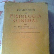 Libros de segunda mano: COMPENDIO DE FISIOLOGIA GENERAL. Lote 51009319