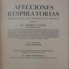 Libros de segunda mano: AFECCIONES RESPIRATORIAS. ROBERT COOPE.. Lote 51155839