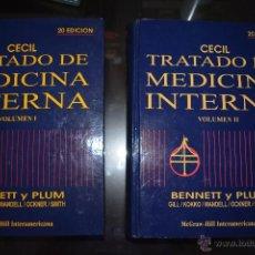 Libros de segunda mano: TRATADO DE MEDICINA INTERNA. CECIL. BENNETT Y PLUM. 2 VOLUMENES.. Lote 51365721