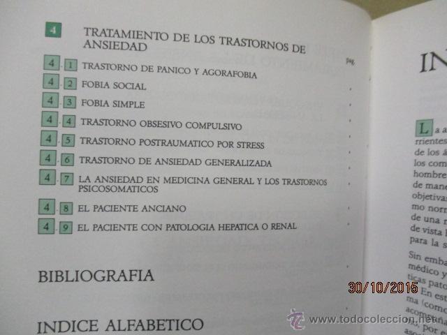 Libros de segunda mano: PSICOBIOLOGÍA Y TERAPEUTICA DE LA ANSIEDAD EN LA PRÁCTICA MEDICA MASSIMO BIONDI - Foto 5 - 52443431