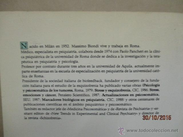 Libros de segunda mano: PSICOBIOLOGÍA Y TERAPEUTICA DE LA ANSIEDAD EN LA PRÁCTICA MEDICA MASSIMO BIONDI - Foto 9 - 52443431