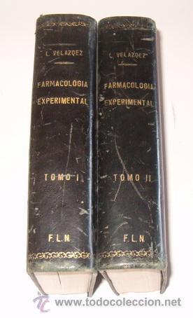 TERAPÉUTICA CON SUS FUNDAMENTOS DE FARMACOLOGÍA EXPERIMENTAL. TOMOS I Y II. DOS TOMOS. RM72185. (Libros de Segunda Mano - Ciencias, Manuales y Oficios - Medicina, Farmacia y Salud)