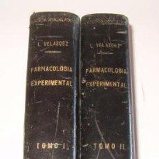 Libros de segunda mano: TERAPÉUTICA CON SUS FUNDAMENTOS DE FARMACOLOGÍA EXPERIMENTAL. TOMOS I Y II. DOS TOMOS. RM72185.. Lote 52939774