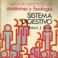 Libros de segunda mano: SISTEMA DIGESTIVO -DEL CURSO PROGRAMADO DE ANATOMÍA Y FISIOLOGÍA. Lote 52950471