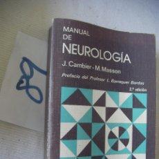Libros de segunda mano: MANUAL DE NEUROLOGIA - CAMBIER Y MASSON. Lote 54633002