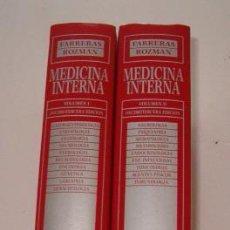 Libros de segunda mano: P. FARRERAS VALENTÍ, C. ROZMAN. MEDICINA INTERNA. DOS TOMOS. RM73482. . Lote 54799865