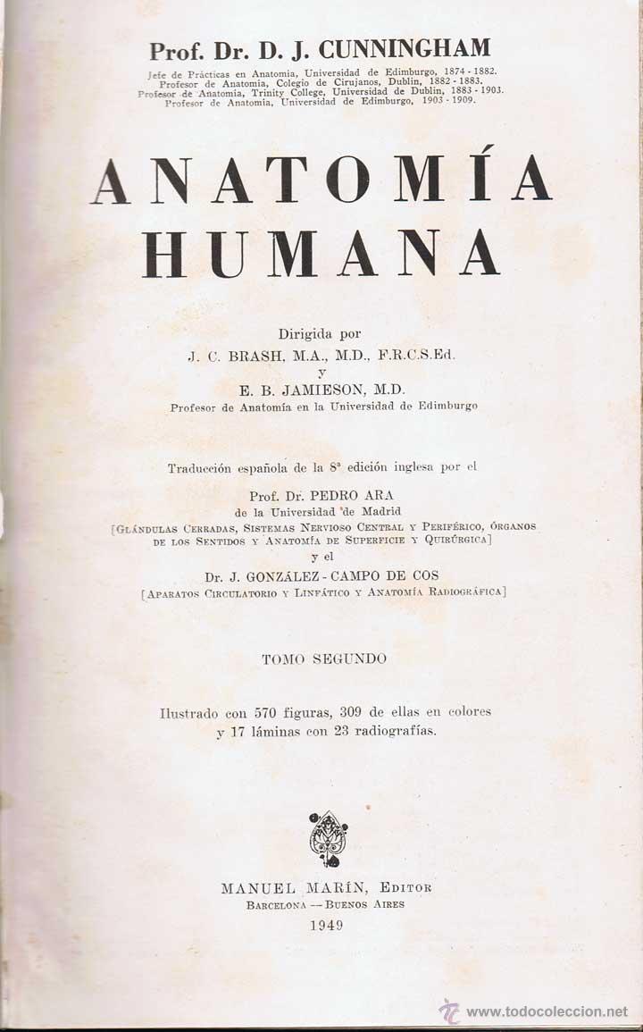 anatomía humana. tomo ii - d. j. cunningham - Comprar Libros de ...