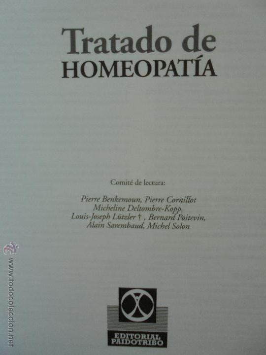 Libros de segunda mano: TRATADO DE HOMEOPATIA. COLECCION HOMEOPATIA. EDITORIAL PAIDOTRIBO 2000. VER FOTOGRAFIAS ADJUNTAS. - Foto 7 - 217854118