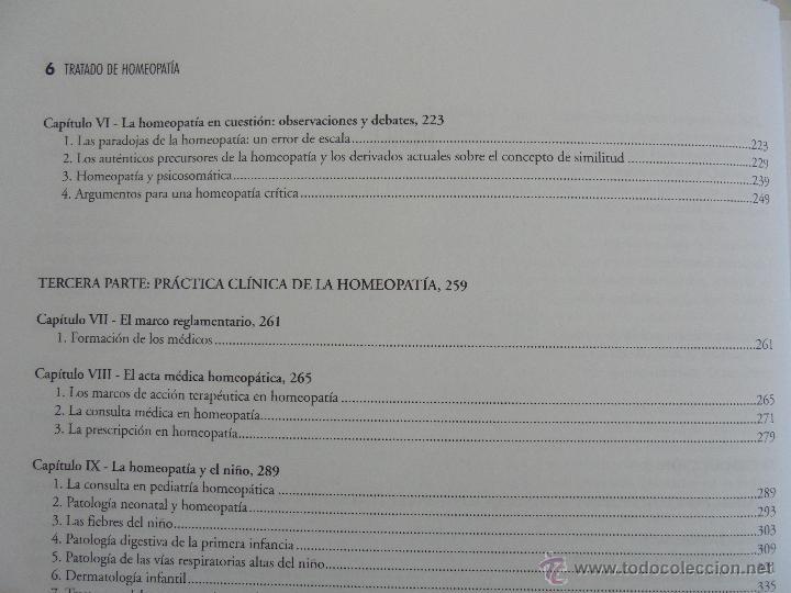 Libros de segunda mano: TRATADO DE HOMEOPATIA. COLECCION HOMEOPATIA. EDITORIAL PAIDOTRIBO 2000. VER FOTOGRAFIAS ADJUNTAS. - Foto 12 - 217854118