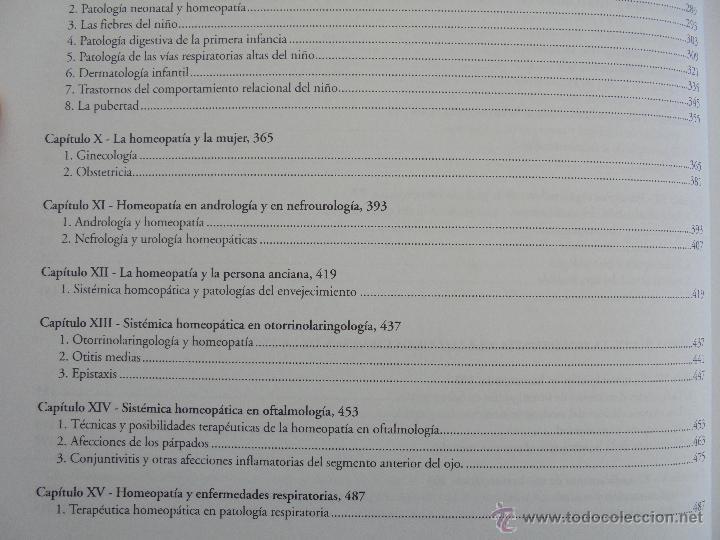 Libros de segunda mano: TRATADO DE HOMEOPATIA. COLECCION HOMEOPATIA. EDITORIAL PAIDOTRIBO 2000. VER FOTOGRAFIAS ADJUNTAS. - Foto 14 - 217854118