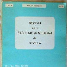 Libros de segunda mano: REVISTA FACULTAD MEDICINA SEVILLA -TOMO III / ENERO-FEBRERO 1971 / Nº 10 - VER INDICE Y DESCRIPCIÓN. Lote 56870871