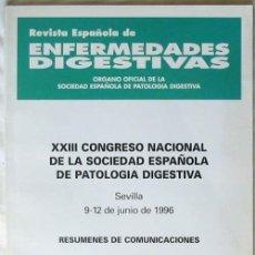 Libros de segunda mano: XXIII CONGRESO NACIONAL DE LA SOCIEDAD ESPAÑOLA DE PATOLOGÍA DIGESTIVA 1996 RESUMENES COMUNICACIONES. Lote 56987700