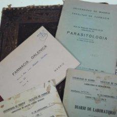 Libros de segunda mano: LOTE DE 4 CUADERNOS DE LABORATORIO - DIARIOS,FARMACIA GALÉNICA, GUÍA DE TRABAJOS DE PARASITOLOGÍA - . Lote 57890761