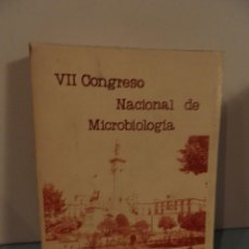 Libros de segunda mano: VII CONGRESO NACIONALDE MICROBIOLOGIA ,FACULTAD DE MEDICINA. CADIZ ,24-27 SEPT.1979,. Lote 58018194
